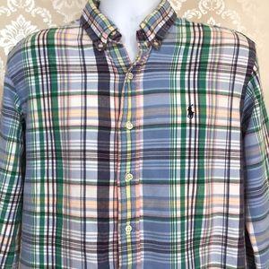 Men's Ralph Lauren Flannel Plaid Button-Down
